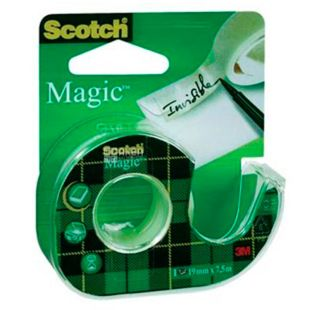 Adhesive tape invisible Scotch Magic, on a mini dispenser, 19 mm x 33 m, TM ZM