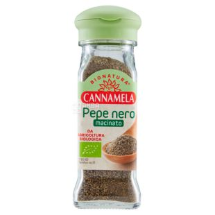 Cannamela, Ground Black Pepper Organic, 50 g