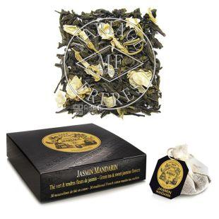 Mariage Freres, Jasmin Mandarin, 30 пак., Чай Марьяж Фрере, Жасмин Мандарин, зеленый с лепестками цветов