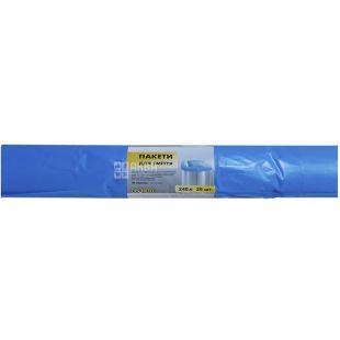 Промтус, 25 шт., 240 л, Пакети для сміття, без затягувань, міцні, сині