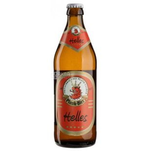Beer light unfiltered Vollbier Hell, 0.5 l, TM Plank