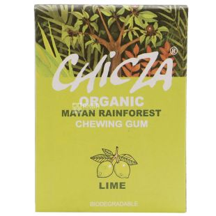 Organic Lime Chewing Gum, 30 g, TM Chicza