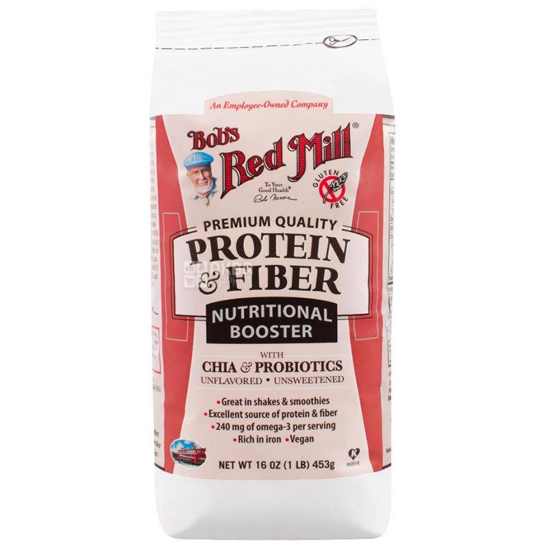 Bob's Red Mill, Белок и клетчатка, чиа и пробиотики, 453 г