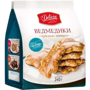 Delicia Gingerbread Boiled Bears, 240 g