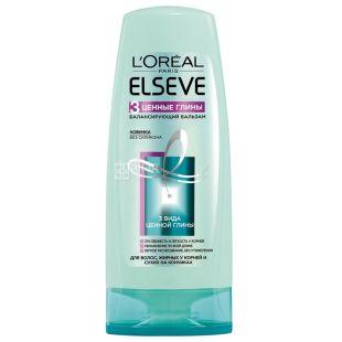L'Oreal Elseve, Бальзам для волос жирных у корней и сухих на кончиках, 3 Глины, 200 мл