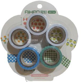 AIHAO, 5 штук в упаковке, Набор декоративного скотча, 16,7 *5 мм