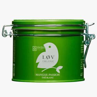 LoV Organic, Mango - Passion Fruit, 70 г, Чай Лов Органик, Манго - Маракуйя, Белый органический, ж/б