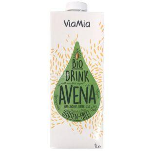 ViaMia Bio Drink Avena, Напиток овсяный безглютеновый органический, 1 л