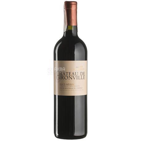 Chateau de Gironville, Вино червоне сухе, 2013, 0,75 л