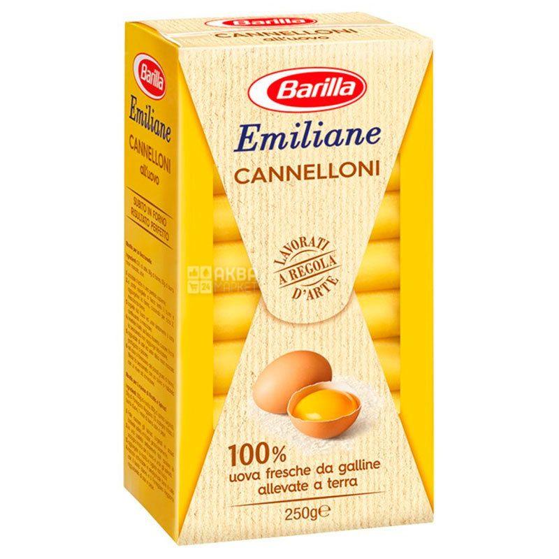 Barilla Emiliane Cannelloni, 250 г, Макарони яєчні Барілла Еміліане Каннеллоні