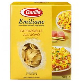 Barilla Emiliane Pappardelle №227, 500 г, Макарони яєчні Барілла Еміліане Паппарделле