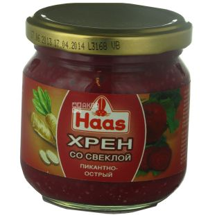 Haas, Horseradish with red beet, 200 g