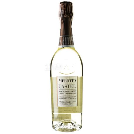 Merotto, Castel Prosecco, Игристое белое вино, 0,75 л