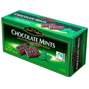 Maitre Truffout, Шоколад черный порционный с ментолом, Файн Минтс, 200 г