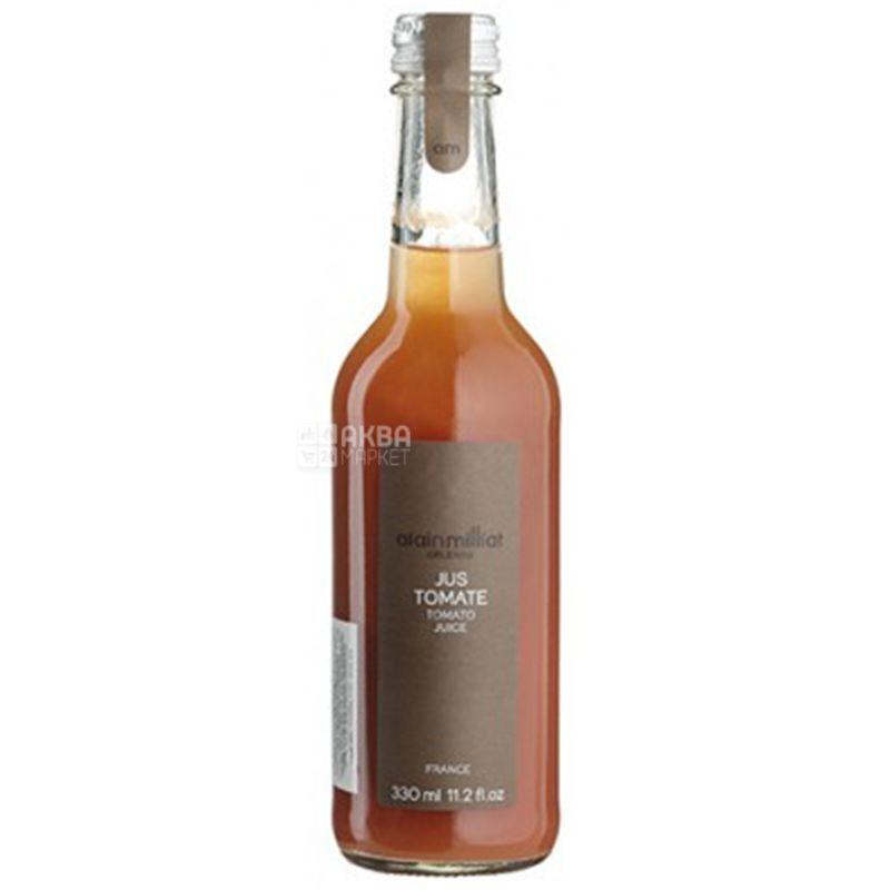 Alain Milliat, Jus Tomate, 330 мл, Ален Миллиат, Томатный сок, прямого отжима, стекло