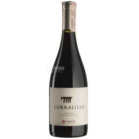 Matetic Vineyards, Syrah Corralillo, Вино красное сухое, 0,75 л