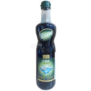 Teisseire Blue Curacao, Blue Kyurosao Syrup, 0.7 L, glass