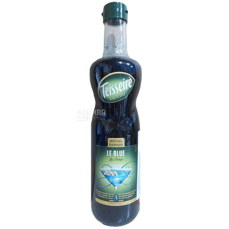 Teisseire, Blue Curacao, 0,7 л, Сироп Тейссер, Блю Кюросао, скло