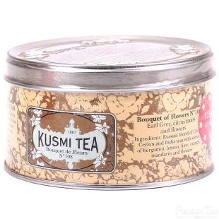 Kusmi Tea, Bouguet of Flowers №108, 125 г, Чай Кусми Ти, Букет цветов, черный, с ароматом бергамота, цитрусовых и цветов, ж/б