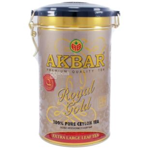 Akbar Royal Gold, 150 г, Чай черный Акбар Роял Голд, ж/б