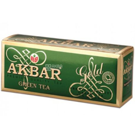 Akbar Green Gold, 25 пак, Чай зелений Акбар Грін Голд