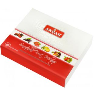 Akbar Fruit Melange, Подарочный набор чая, ассорти, 60 пак