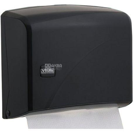 Vialli, Держатель бумажных полотенец Z- складывание, черный, 225*95*275 мм