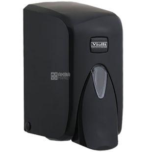 Vialli, Дозатор для мыла и шампуня, черный, 105*129*170 мм, 500 мл