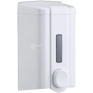 Vialli, Дозатор для мыла и шампуня, белый, 105*105*195 мм, 1000 мл