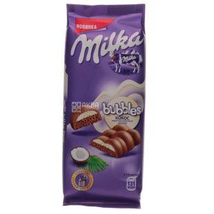 Milka Bubbles, Шоколад молочный пористый с кокосом, 97 г