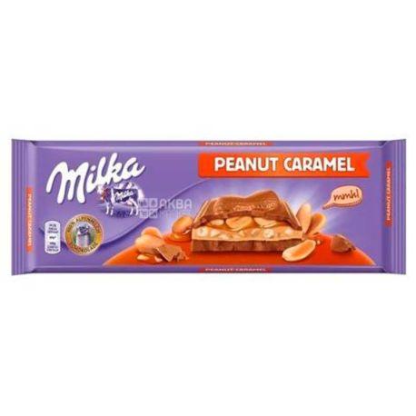 Milka, Шоколад молочний з арахісом і карамеллю XL, 276 г