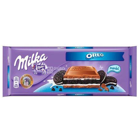 Milka & Oreo, Шоколад молочний з печивом Орео XL, 300 г