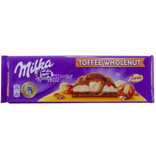 Milka, Milk chocolate with whole hazelnuts and caramel XL, 300 g