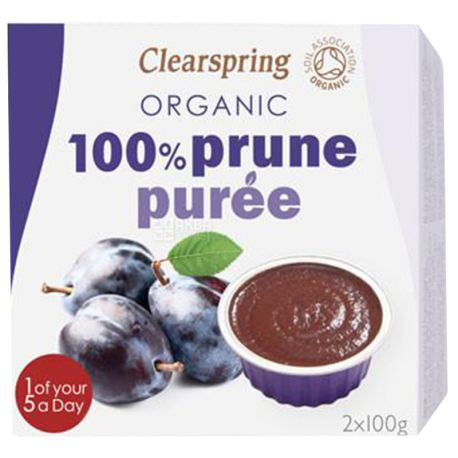 Clearspring, Пюре фруктовое со вкусом сливы, 2х100 г