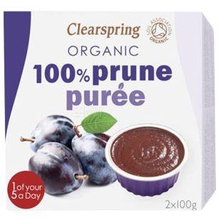 Clearspring, Пюре фруктове зі смаком сливи, 2х100 г