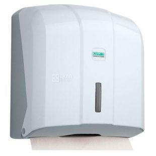 Vialli, Paper towel holder, V-folding, white, 270 * 130 * 270 mm