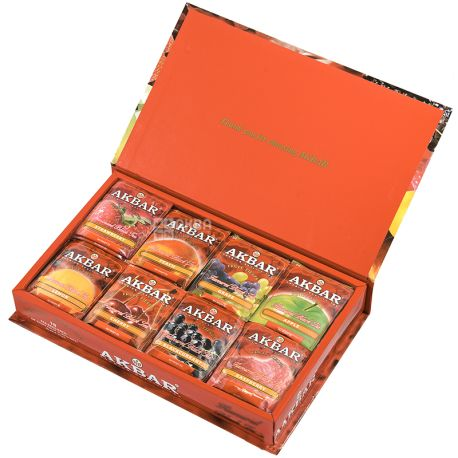 Akbar Fruit Fiesta, 80 packs, Gift set of tea, assorted, Akbar Fruit Fiesta