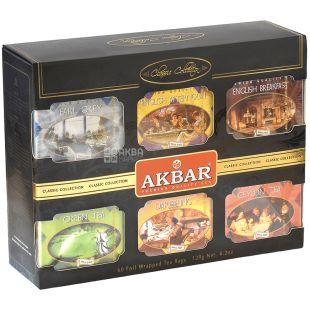 Akbar Classic Collection, 60 пак, Подарунковий набір чаю, асорті, Акбар Класик Коллекшн