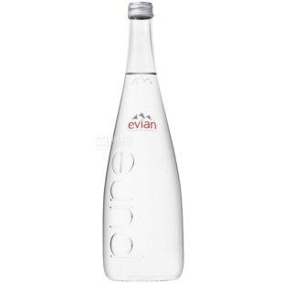 Evian, 0,75 л, Евіан, Вода негазована, скло