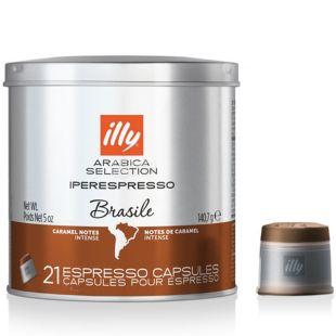 illy monoarabica iperespresso Brazil, Кофе в капсулах, 21 капсула