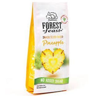 Forest Feast ананасовые сердечки сушеные, 80 г