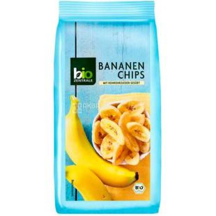 Bio Zentrale, Banana Chips, Organic, 150 g