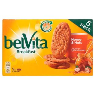 Belvita, Biscuits with honey and nuts, 225 g