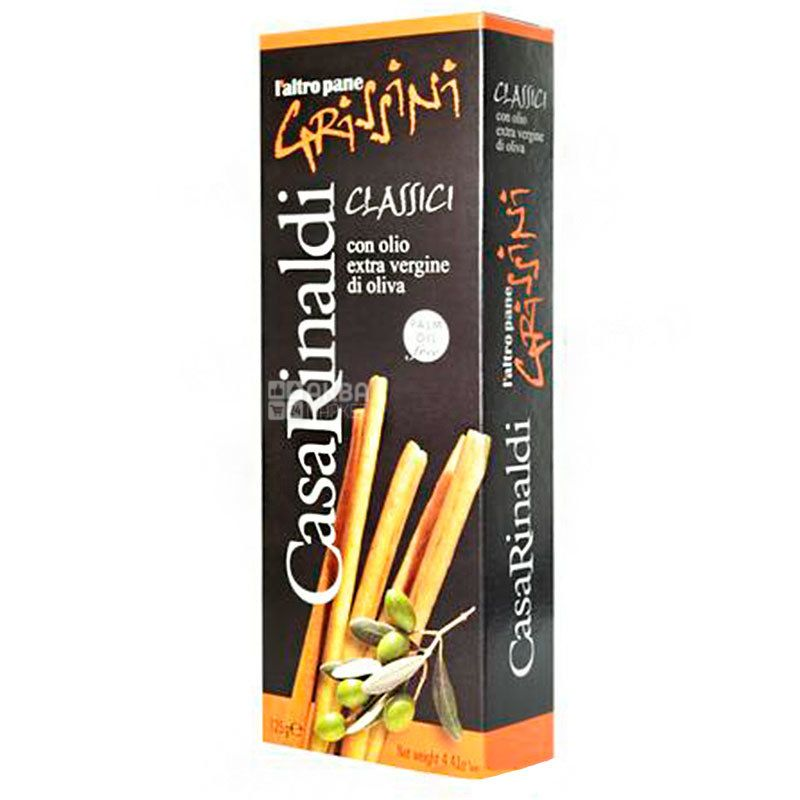 Casa Rinaldi, Хлібні палички Grissini з оливковою олією, 125 г