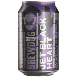 Brewdog Jet Black Heart, пиво темное крафтовое, 0,33 л, ж/б