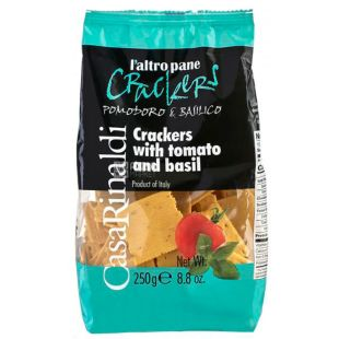 Casa Rinaldi, Cracker with Tomato and Basil, 250 g