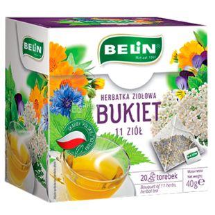Belin, Bukiet 11 ziół, 20 пак., Чай Белин, Микс 11 трав