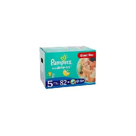Pampers Active Baby Junior, 82 шт., Памперс, Подгузники-трусики, Размер 5, 11-18 кг