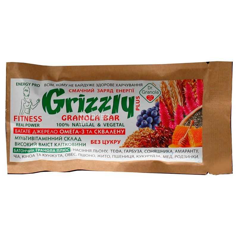 Dr.Granola Grizzly, Sugar-free granola, 30 g