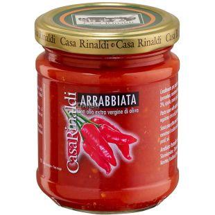 Casa Rinaldi Arrabbiata, Соус томатный Аррабьята, 190 г
